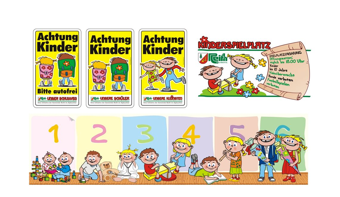 Illustrationen vo Kindern für den Kindergarten in Reith im Alpbachtal