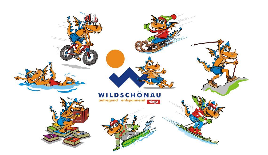 Illustration und Maskottchen für den Tourismusverband Wildschönau Tirol