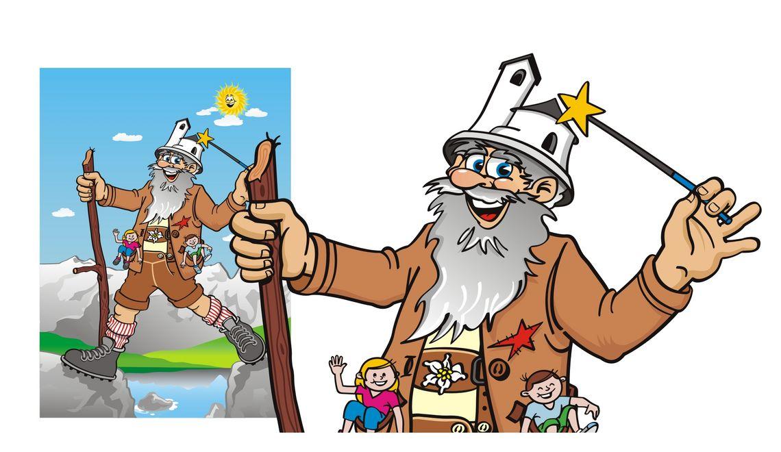 Illustration und Maskottchen für Skiwelt Söll Wilder Kaiser Brixental in Tirol