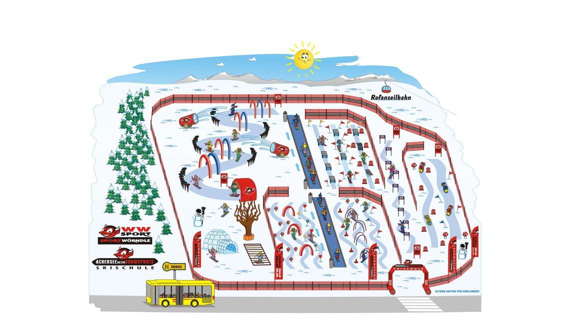 Individuelle Gestaltung und Maskottchen für Skischulen wie zum Beispiel Skiplan und vieles mehr