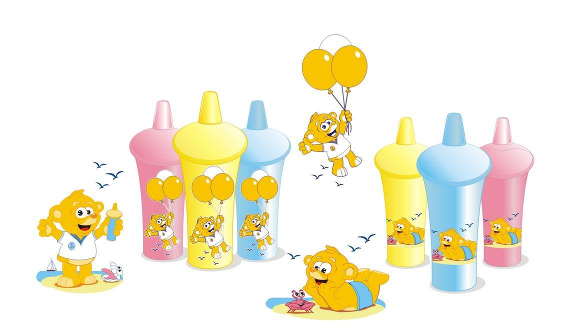Bären Illustration und Maskottchen für Spar AG Eigenmarke Pretty Baby