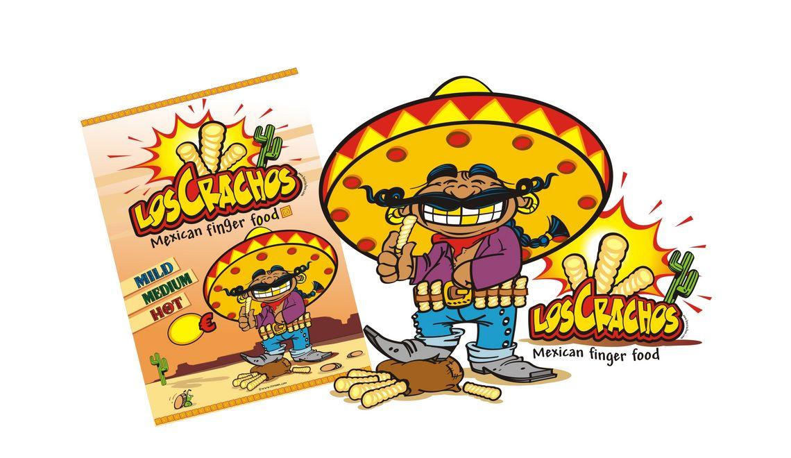 Maskottchen und Illustration für Los Crachos